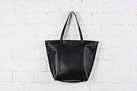 Сумка женская шоппер на молнии Black Shopper Bag HARVEST (женские сумки, сумка жіноча, шопер)