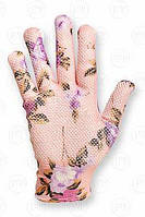 Перчатки нейлоновые женские с ПВХ точкой