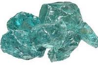 Декоративные камни стекляные синие