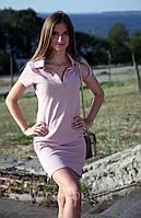 Трикотажное летнее платье Поло с украинской символикой