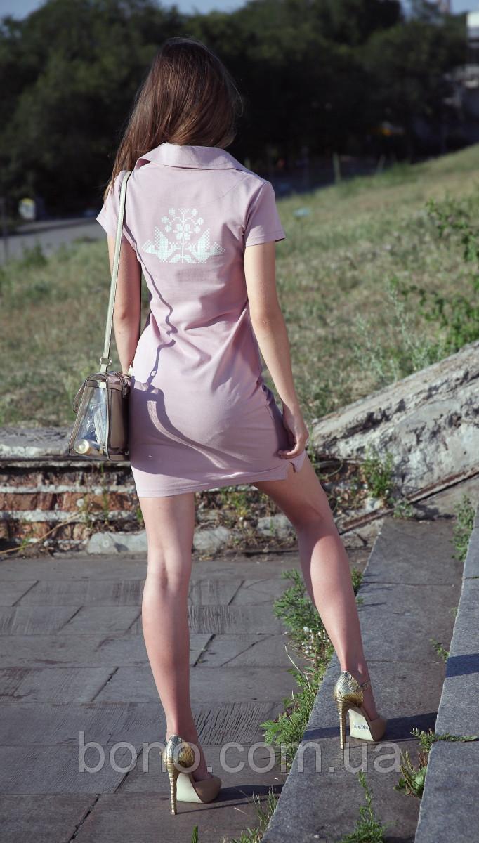 5990b15ec27 Bono Трикотажное летнее платье Поло с украинской символикой