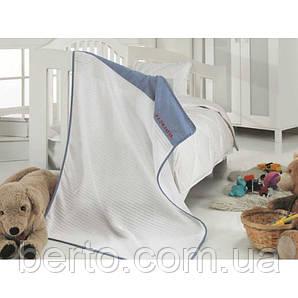 Детский плед в кроватку U.S. Polo Assn - Bandon синий 80*110