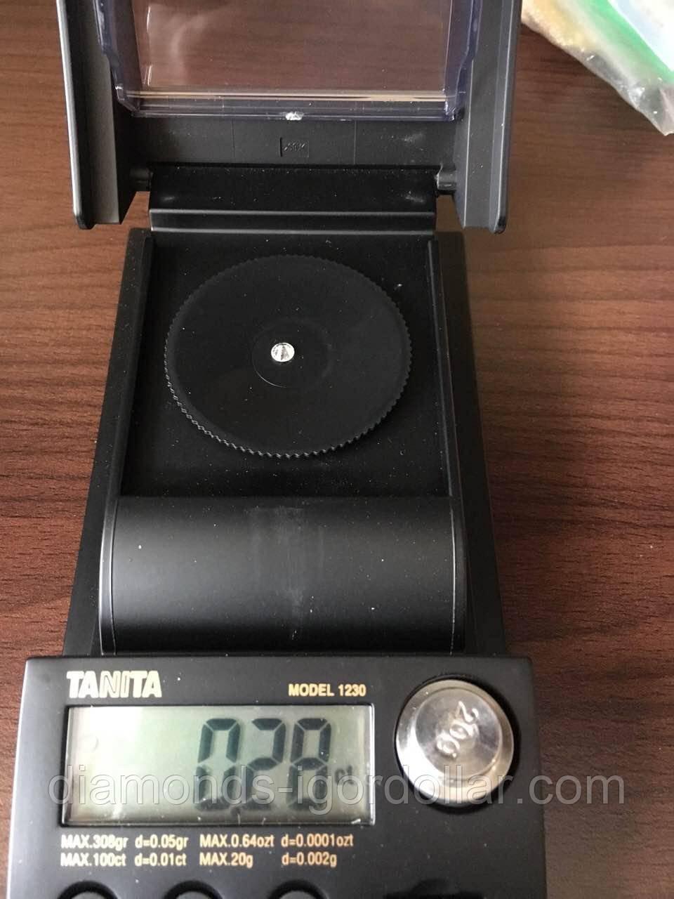 Купить бриллиант натуральный природный Украина 4.2 мм 0.28 кт 3/4-4/5 супер цена