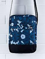 Синяя принтованая сумка через плечо Staff print, фото 1