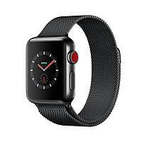 Apple Watch Series 3 GPS+LTE 42mm Space Black Stainless Steel Case with Space Black Milanese Loop MR1L2 [42mm|Space Black Milanese Loop]