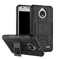 Чехол Motorola Moto E / E4 / XT1762 противоударный бампер черный