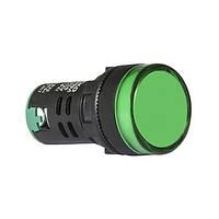 Сигнальная арматура AD22-22DS зеленая 12V АC/DC