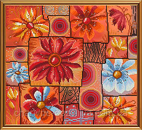 """Набор для вышивания бисером и нитками """"Цветочная мозаика"""""""