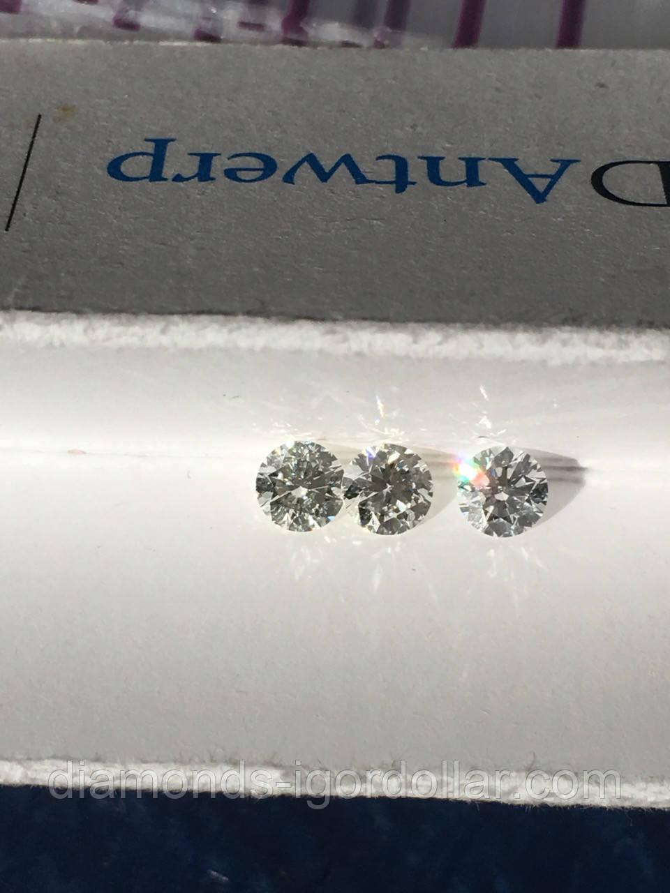 Бриллиант натуральный природный в Украине 4.9 мм 0.45 карат