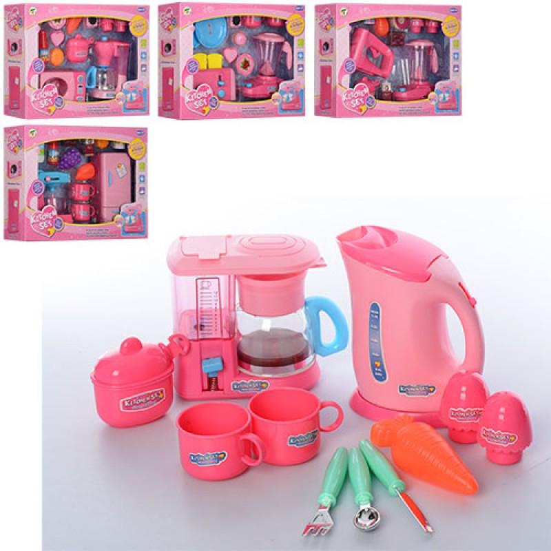 Набор бытовой техники K8866-1-2-3-4-5  2 шт (механическая), посуда, продукты
