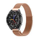 Міланський сітчастий ремінець Primo для годин Huawei Watch 2 - Rose Gold, фото 2