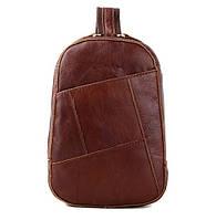 Молодежная кожаная сумка-ранец из натуральной кожи.
