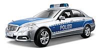 Автомодель Maisto Mercedes Benz E-Class German Police 1:18 (36192 silver-blue)