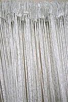 Нитяные шторы, шторы  нити оптом  розница  люрекс