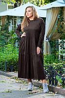 Платье коричневое в стиле оверсайз