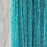 Нитяные шторы,  бирюза   люрекс   качество люкс