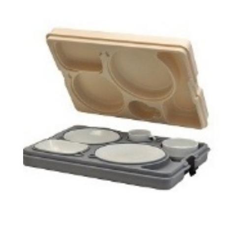 Термоподнос с замком и набором посуды (5 персон) Resital Avatherm (Турция)