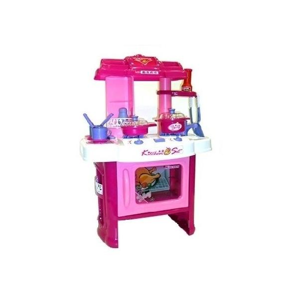 Детская кухня  плитой, посудкой и аксессуарами, свет, звук