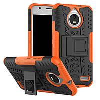 Чехол Motorola Moto E / E4 / XT1762 противоударный бампер оранжевый