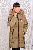 Детская зимняя куртка с натуральным мехом