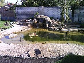 Пристрій штучного водоймища . Декоративний ставок.