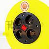 Удлинитель сетевой на катушке с выключателем, переноска, 3GX2.5mm, 4 розетки, фото 5