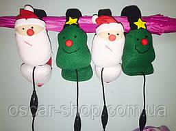 Теплые мягкие наушники гарнитура Санта и Елочка ( можно слушать музыку и говорить по телефону )