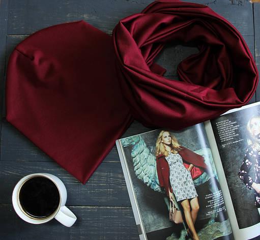 Комплект I&M Craft шапка+шарф марсала (090203), фото 2