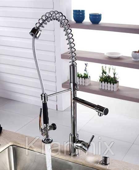 Смеситель для кухни Aquaroom с душем хром
