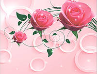 Розовые розы 3d