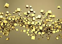 Золотые 3d квадратики