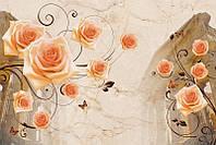 Архитектура и розы 3д