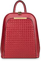 Элегантный женский рюкзак красный 77F Польша