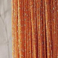 Шторы ниты с люрексом  Дождик    золото