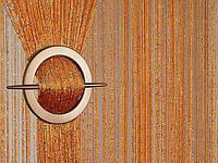 Шторы ниты с люрексом  Дождик    золото, фото 1