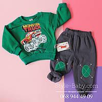 Зеленый детский костюм спортивный два предмета размер 86,92,98 см
