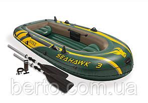 Intex 68380 Seahawk 3 Set надувная лодка трехместная