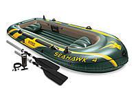 Intex 68351 Seahawk 4 Set надувная лодка четырехместная