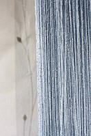 Шторы ниты с люрексом  Дождик   серебро