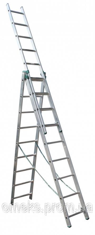Лестница универсальная ITOSS 7609 из трех частей - 3х9 ступ., длина 5,69/2,58 м, вес 13,7 кг BPS