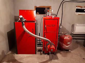 Монтаж котельной на базе пеллетного котла Altep Duo Uni Pellet KT-2EPG 21 кВт. 2
