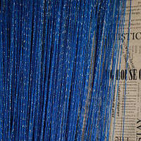 Кисея люрекс  3*3   ярко-синий