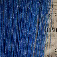 Серпанок люрекс 3*3 яскраво-синій