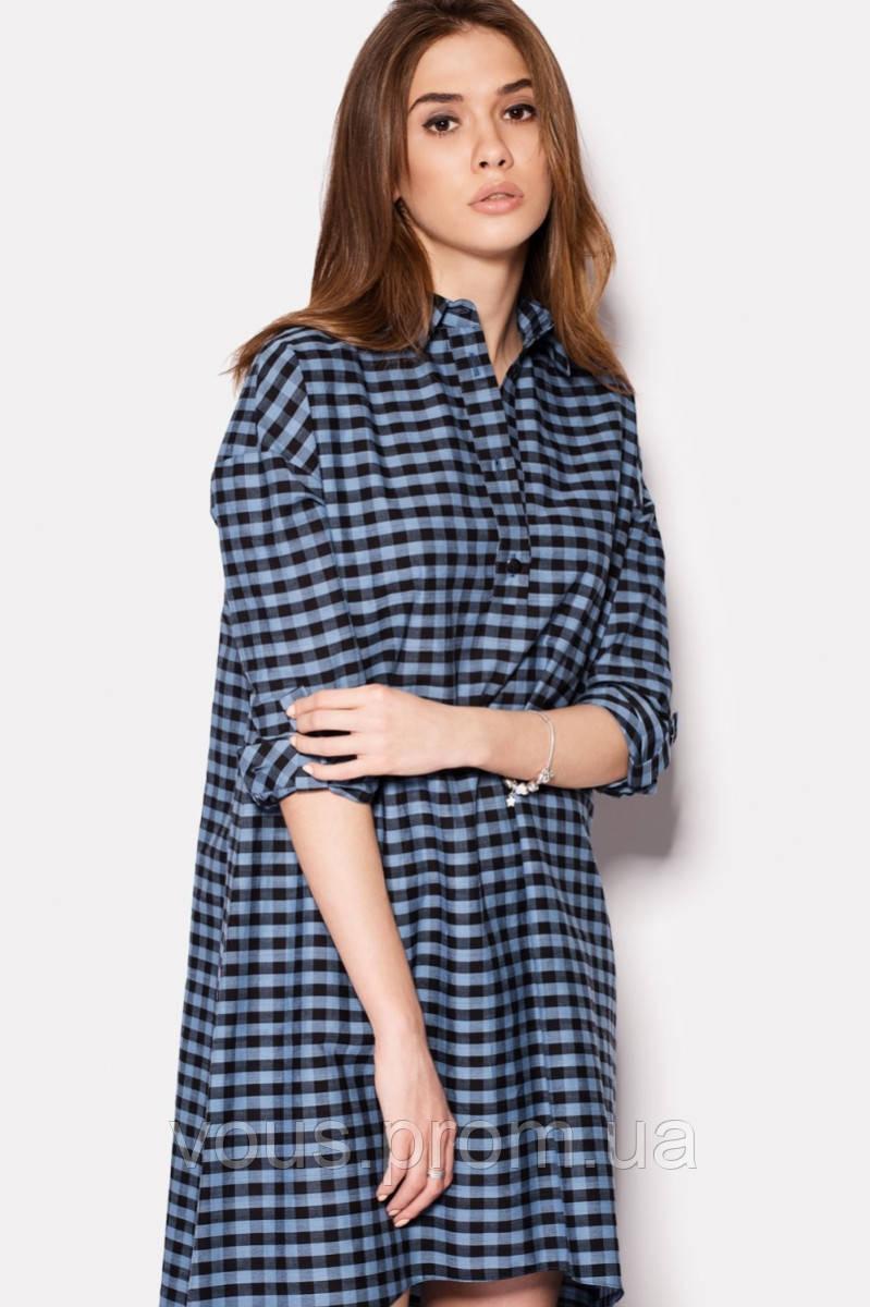 fcdd2d33ca8 Платье-рубашка в клетку - Интернет-магазин «Vous» в Закарпатской области