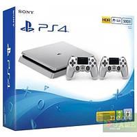Sony PlayStation 4 Slim Silver 500GB + DualShock 4 Version 2