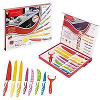 Набор металлических ножей с керамическим покрытием  Royalty Line 7шт +чистка для овощей, фото 1