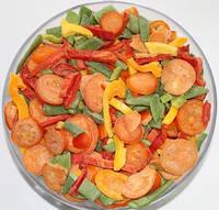 """Смесь """"Овощи для омлета"""" (томат кубик, перец, фасоль стручковая) замороженная"""