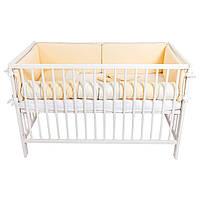 """Постельный комплект для новорожденных с цельными бортиками-защитой """"Vanilla sun"""""""