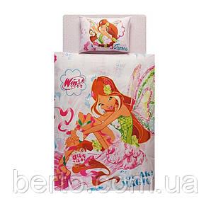 Постельное белье Tac Disney - Winx Harmonix Flora  160*220 подростковое