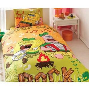 Постельное белье Tac Disney -Sponge Bob Summer Camp160*220 подростковое